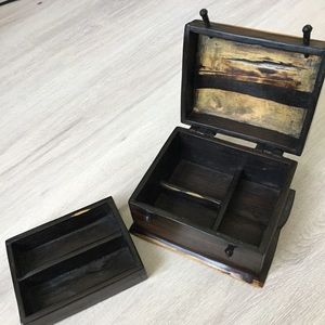 Other - Artisan handcrafted solid wood jewelry box